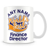 Worlds Best Finance Director Personalised Mug - Orange