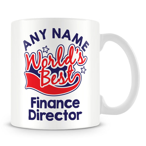 Worlds Best Finance Director Personalised Mug - Red
