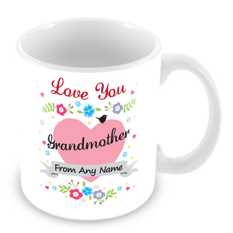 Grandmother Mug - Love You Grandmother Personalised Gift