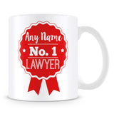 Lawyer Mug - Personalised Gift - Rosette Design - Red