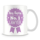 Lawyer Mug - Personalised Gift - Rosette Design - Purple