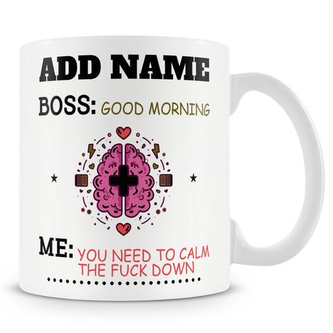 Boss Gift - Sarcastic Novelty Personalised Mug For Managers