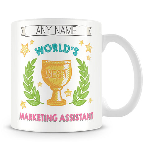 Worlds Best Marketing Assistant Award Mug