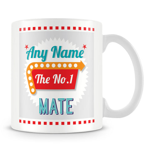 Mate Personalised Mug - No.1 Retro Gift - Green