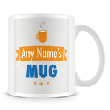 Personalised Name Mug – Orange