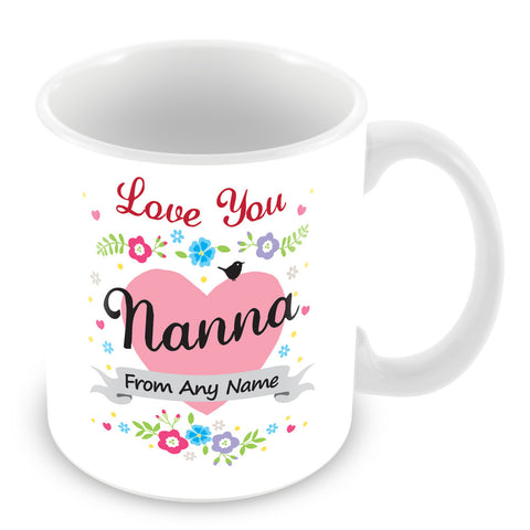 Nanna Mug - Love You Nanna Personalised Gift