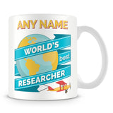 Researcher Worlds Best Banner Mug