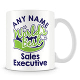 Worlds Best Sales Executive Personalised Mug - Green