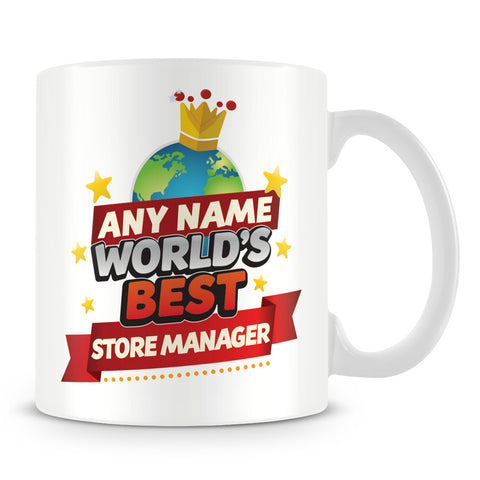 Store Manager Mug - World's Best Personalised Gift  - Red