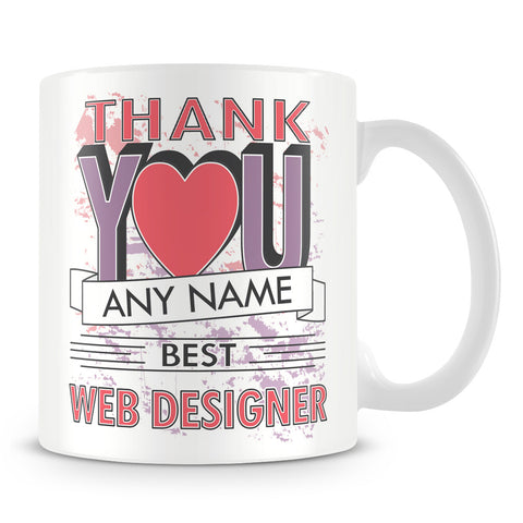 Web Designer Thank You Mug
