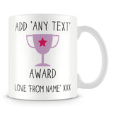 Award Trophy Personalised Mug – Purple