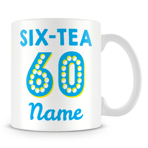 Birthday Tea Personalised Mug – Blue