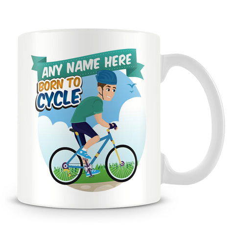 Born to Cycle Personalised Mug