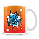 Comic Style Personalised Mug – Orange