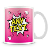 Comic Style Personalised Mug – Pink