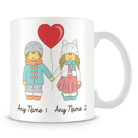 Lovers / Boyfriend and Girlfriend Personalised Mug