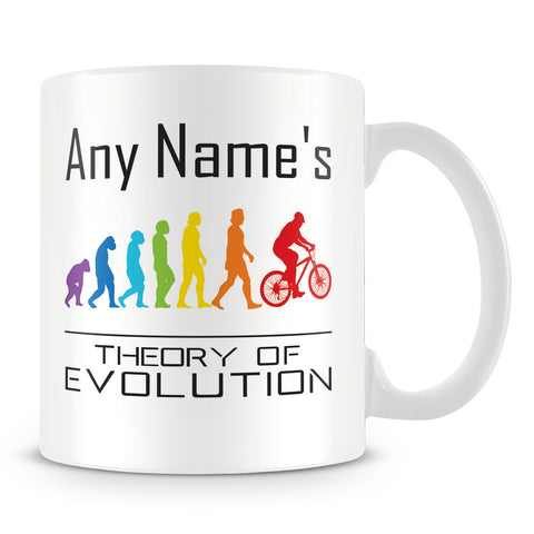 Personalised Cycling Mug – Theory of Evolution