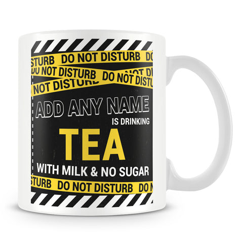 Personalised Drinks Mug with Do Not Disturb Design