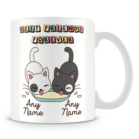 Best Friends Forever Personalised Mug - Cats