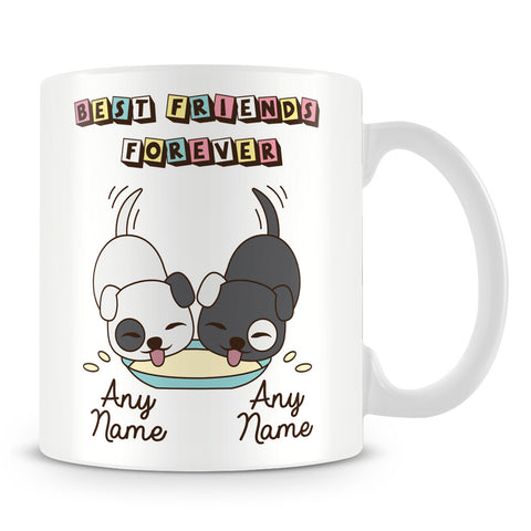 Best Friends Forever Personalised Mug - Dogs