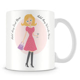 Girly Mug With Personalised Message – Blonde 2