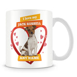 I Love My Jack Russell Dog Personalised Mug - Orange