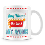The No. 1' Retro Personalised Mug – Green