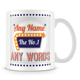 The No. 1' Retro Personalised Mug – Orange