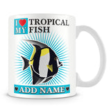 I love My Tropical Fish Personalised Gift – Blue
