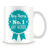 Number 1 Rosette Award Personalised Mug – Green