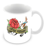 Rose Tattoo Personalised Mug