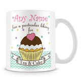 Tea and Cake' Personalised Mug