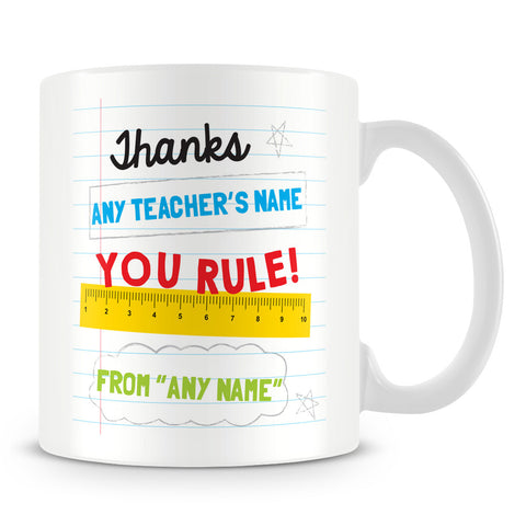 Teacher Rules Personalised Mug