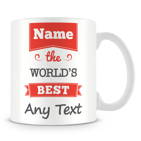The Worlds Best Personalised Mug – Red