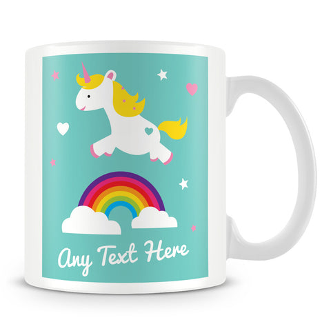 Unicorns and Rainbows Customised Mug