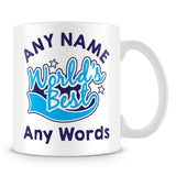 Worlds Best Personalised Mug – Green
