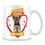 I Love My Yorkshire Terrier Dog Personalised Mug - Orange