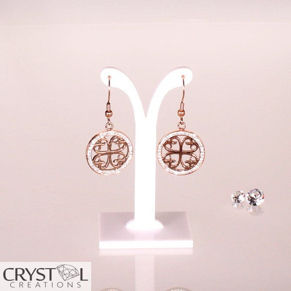 Victoria Collection - Rose Earrings - Crystal Creations