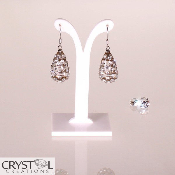 Floating Crystal Teardrop Earrings - Crystal Creations