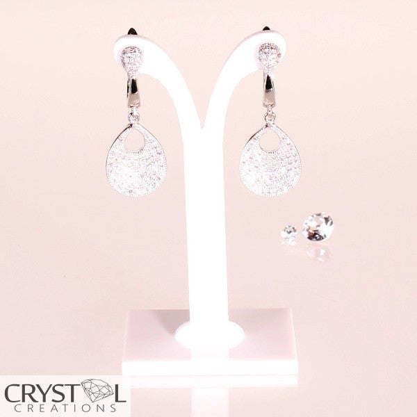 Designer Pear Shape Earrings - Crystal Creations  - 1