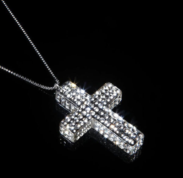 Floating Crystal Large Cross