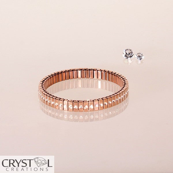 Expansion Selexion Bracelet - Single Row Rose - Crystal Creations