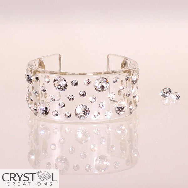 Floating Crystal Chunky Bangle - Crystal Creations  - 1