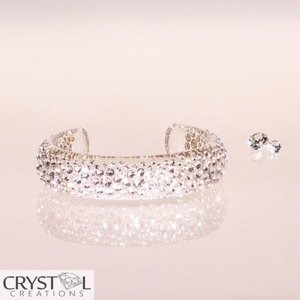 Floating Crystal Cluster Bangle - Crystal Creations  - 1