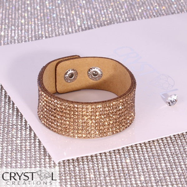 Crystal Cluster Wrap in Gold - Crystal Creations
