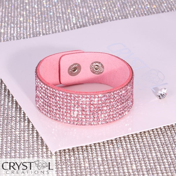 Crystal Cluster Wrap in Pink - Crystal Creations