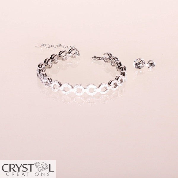 Designer Open Circle Link Bracelet - Crystal Creations  - 1