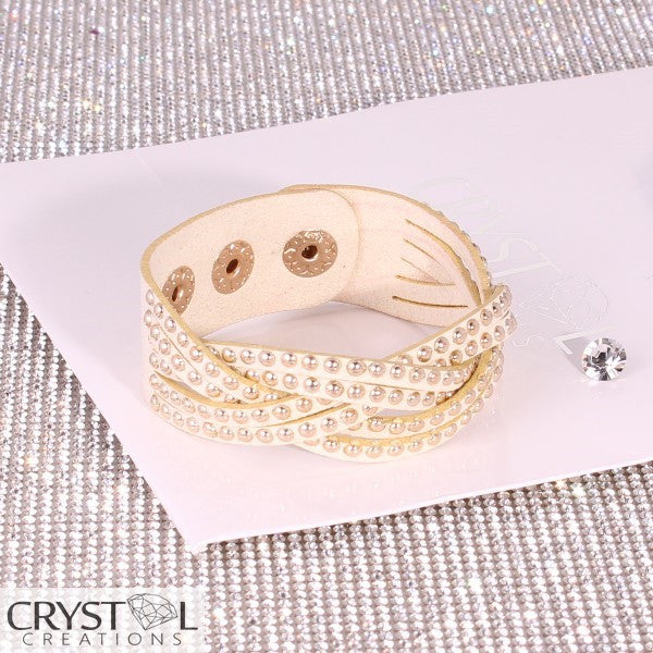 Rose gold studded cream plat wrap - Crystal Creations