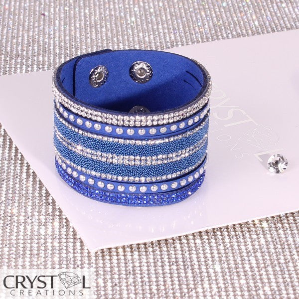 Crystal Creations Double Cuff wrap in blue - Crystal Creations