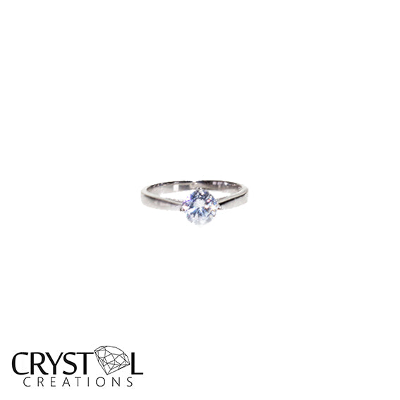 CZ Centre Stone Engagement Ring